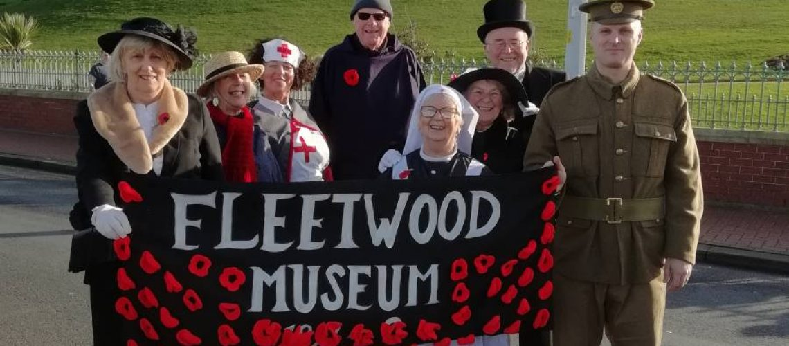 Fleetwood Museum staff and volunteers after the Final Homecoming Parade.